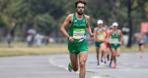 "Mick Clohisey in the marathon in Rio. ""I've seen some pictures of myself in Rio, and can't believe how bad I look."" Photograph: INPHO/Morgan Treacy"