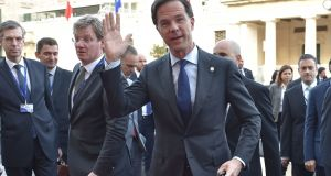 Dutch prime minister Mark Rutte  at the EU summit in  Malta: in   close race with far-right leader Geert Wilders. Photograph: Andreas Solaro/AFP/Getty Images