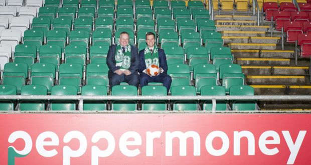 Shamrock rovers nets 400000 sponsorship deal pepper ireland chief executive paul doddrell with shamrock rovers chief executive brendan murray in tallaght stadium fandeluxe Image collections