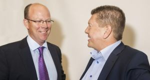 Oneview chief executive James Fitter and founder Mark McCloskey. Photograph: Peter Moloney