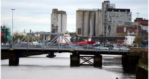 File photograph of Cork city, View towards docks and port across river Lee . Photograph: Bryan O'Brien
