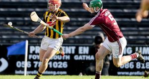 Richie Hogan scored 11 points as Kilkenny edged out Galway to secure a 20th Walsh Cup. Photograph: Inpho/Tommy Dickson