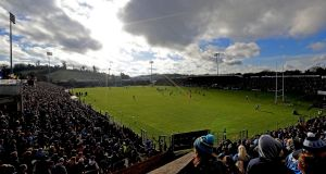 A bumper crowd of 16,500 enthusiasts showed up at Breffni Park to see Dublin take on  Cavan. Photograph: Donall Farmer/Inpho