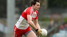 James Kielt converted a late free to rescue a point for Derry against Clare. Photograph: Donall Farmer/Inpho