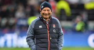 England's coach Eddie Jones wants his team to improve on their record against Wales. Photograph: Getty Images