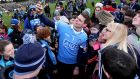 Dublin captain Stephen Cluxton with supporters at the end of the game at Breffni Park. Photograph: Donall Farmer/Inpho