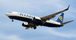 Ryanair transported 28.8 million passengers in the third quarter of its current financial year. Photograph: Josep Lago/AFP/Getty