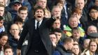Chelsea's manager Antonio Conte during his teams match against Arsenal on Saturday. Photograph: Andy Rain/EPA