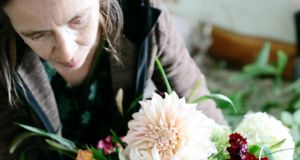 Hanna Heubach, who has been growing and selling Irish flowers from her smallholding in west Co Cork for more than 20 years. Photograph: Dasha Caffrey