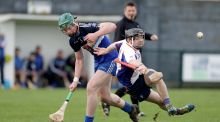 DIT's Colm Byrne battles for possession with Michael O'Neill of Mary Immaculate College. Photograph: Morgan Treacy/Inpho