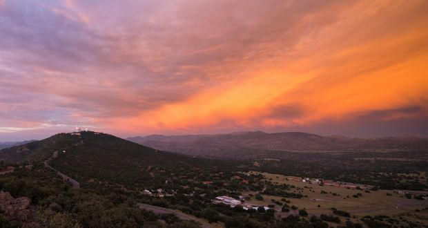 Sunrise Over The McDonald Observatory In The Foothills Of The Davis  Mountains In West Texas. Part 56