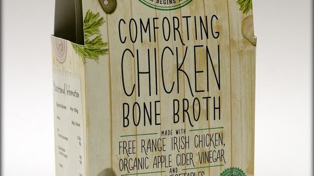 Sadie's chicken broth: good enough to warm in the microwave and drink as it is
