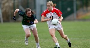 Right,  Tyrone Gaelic footballer Gemma Begley, a two-time All Star, is the project co-ordinator with the Women's Gaelic Players Association (WGPA). Photograph:  ©INPHO/Ryan Byrne