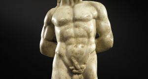A Roman Marble Torso of Pan made in the 2nd century AD.