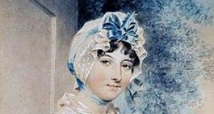 Maria Edgeworth, as painted  by John Downman (1807)