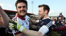 "Slaughtneil's Christopher McKaigue and goalkeeper Antoin McMullan. ""We've been underdogs before, you just can't read too much into that,"" says McKaigue. Photograph: INPHO"