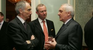 "Maurice Healy, right: ""I would like people who are giving to stand up and say they are giving."" Photograph: Alan Betson"