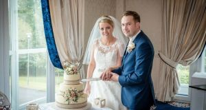 Claire and John Coldrick flew in from London for a cake tasting months before their wedding at Breaffy House Hotel in Castlebar.