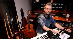 Hamlet Sweeney of Nucleus Music Song Studio at his desk in Dublin. Photograph: Cyril Byrne / THE IRISH TIMES