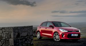 Europe gets only one body style for the new Kia Rio, a five-door hatchback.