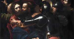 A detail from The Taking of Christ by  Caravaggio, which is on  indefinite loan to the National Gallery of Ireland from the Jesuit Community. Photograph: National Gallery of Ireland