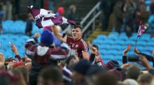 Galway's Damien Comer celebrates after the county's victory over Mayo in last year's Connacht semi-final. Photograph: Lorraine O'Sullivan/Inpho