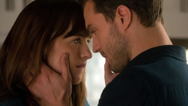 Bottoms up: Dakota Johnson and Jamie Dornan in Fifty Shades Darker