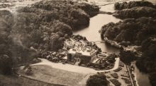 Aerial view: Westport House and the Italian Gardens in 1912. Photograph: Westport House/Phocus