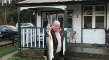 Ronan O'Connor with the first salmon caught in Ireland for 2017 from Careysville Fishery on the Munster Blackwater.