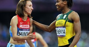 Mariya Savinova-Farnosova has been given a four-year doping ban by the Court of Arbitration for Sport and been stripped of her London 2012 800 metres gold. Photograph: PA
