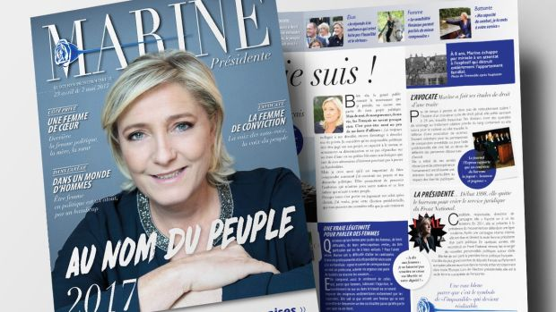 France's presidential race: the campaign magazine that aims to soften Marine Le Pen's image