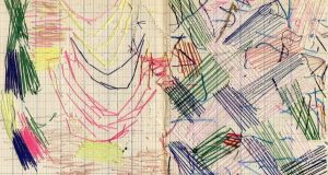 Thread Drawing by Sharon Edgar, from Lacuna show in Taylor Galleries