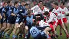 Dublin  and Tyrone players come to blows during the infamous 'Battle of Omagh' in  2006. Photograph: Morgan Treacy/Inpho