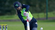 Gaby Lewis top-scored with 33 in Ireland Women's World Cup qualifier against India in Colombo. Photograph:  Rowland White: Inpho/Presseye
