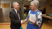 Tusla chief executive  Fred McBride and Minister for Children Katherine Zappone. Photograph: Gareth Chaney Collins