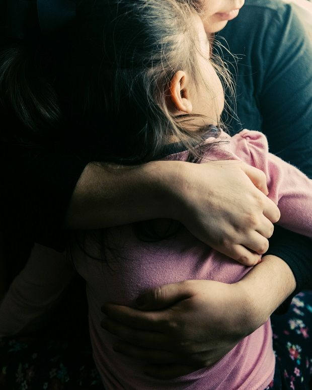 Esmeralda, an undocumented immigrant from Mexico, holds her daughter Leslie (2) in Alexandria, Virginia, on Thursday. Photograph: Jared Soares/The New York Times