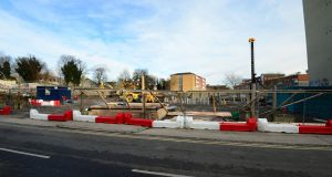 Site at Grangegorman Lower and Brunswick Street, Dublin, where  student accommodation is to be built. Photograph: Dara Mac Dónaill