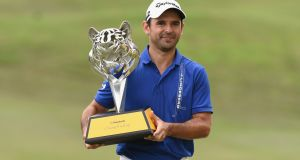 Fabrizio Zanotti eagled the last hole as a final round 63 saw him win the Maybank Championship. Photograph: Getty/Stanley Chou