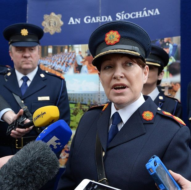 David Taylor pictured in April 2014 with then acting Garda Commissioner Noirin O'Sullivan
