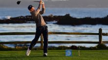 Jordan Spieth has a seven shot lead heading into the final round of the Pebble Beach Pro-Am. Photograph: Getty/Harry How