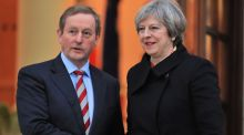 "Taoiseach Enda Kenny with British prime minister Theresa May in Dublin last month. May ""turned down the honour of addressing the Dáil"" during her visit to the capital. Photograph: Colin Keegan/ Collins Dublin"