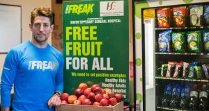 South Tipperary General Hospital now offers free apples  thanks to Richard Kennedy. Photograph: John D Kelly