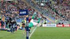 Ireland's Craig Gilroy goes after a loose ball at the Stadio Olimpico. Photograph: Dan Sheridan/Inpho