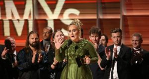 Adele: the only artist to win Grammys for album, record and song of the year twice. Photograph: Lucy Nicholson/Reuters