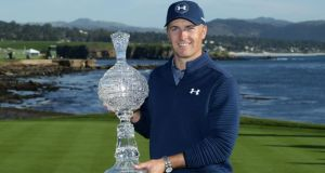 Jordan Spieth won the Pebble Beach Pro-Am to end a 13-month drought on the PGA Tour. Photograph: Jeff Gross/Getty