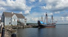 The Hector Heritage Quay in Pictou, Nova Scotia,  features a  full-size replica of the ship that carried Scottish immigrants to Nova Scotia in the 18th century.