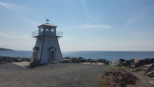 "The replica of the original Arisaig Point lighthouse in Antigonish, Nova Scotia, doubles as a ""lobster interpretive centre"" that also sells ice cream in the summer months."