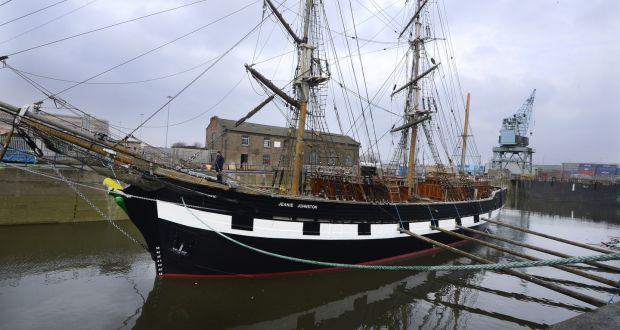 jeanie johnston leaves dublin port graving dock for last time