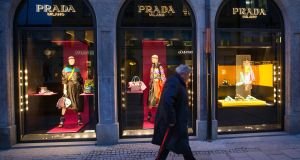 Prada said  business improved after a 25 per cent drop in group net profit in the first half of 2016. Photograph:  Krisztian Bocsi/Bloomberg
