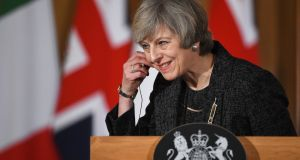 Theresa May: could have got her excuses in early. Photograph: Facundo Arrizabalaga/EPA